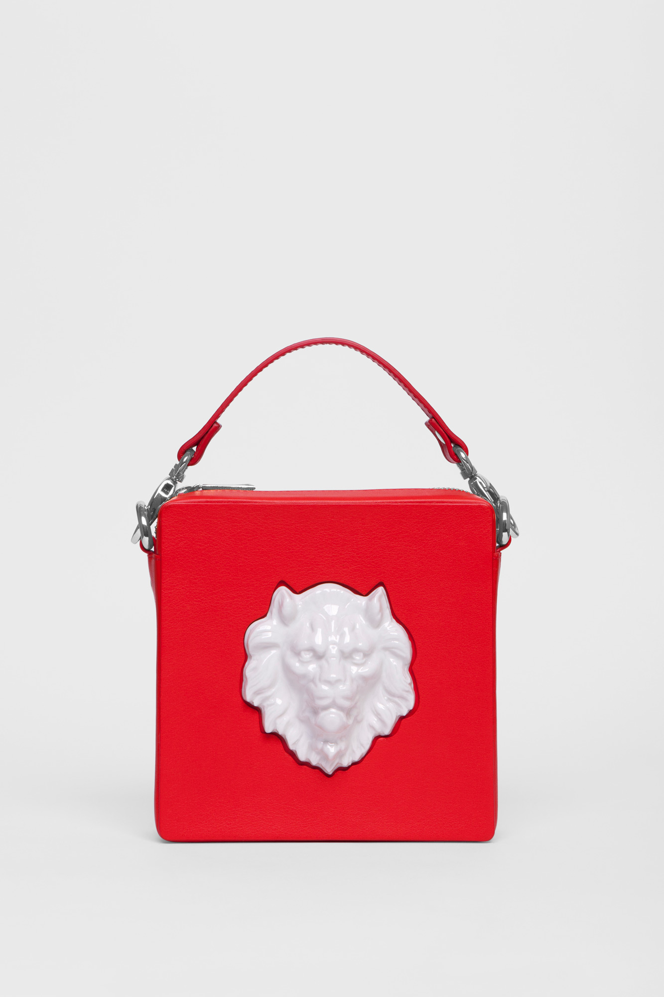 Square Lion Bag Red
