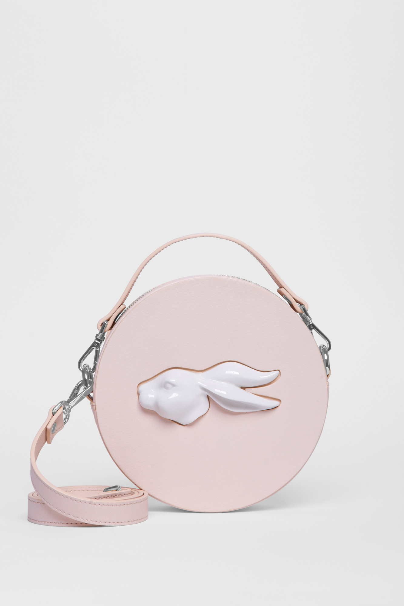 Round Rabbit Head Bag Natural