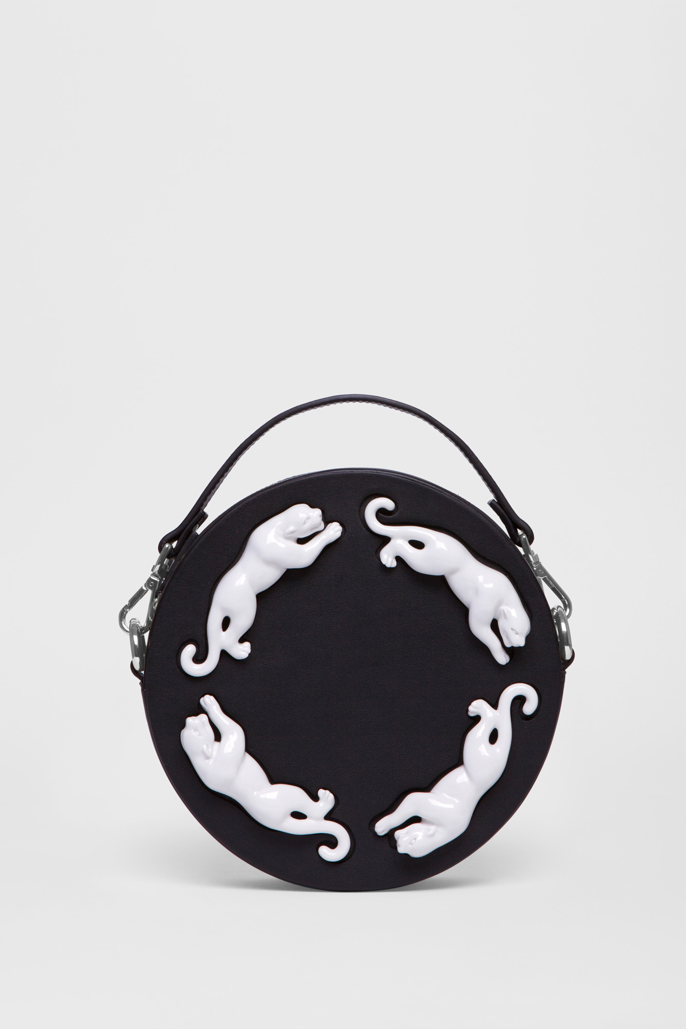 Round Panther Bag Black