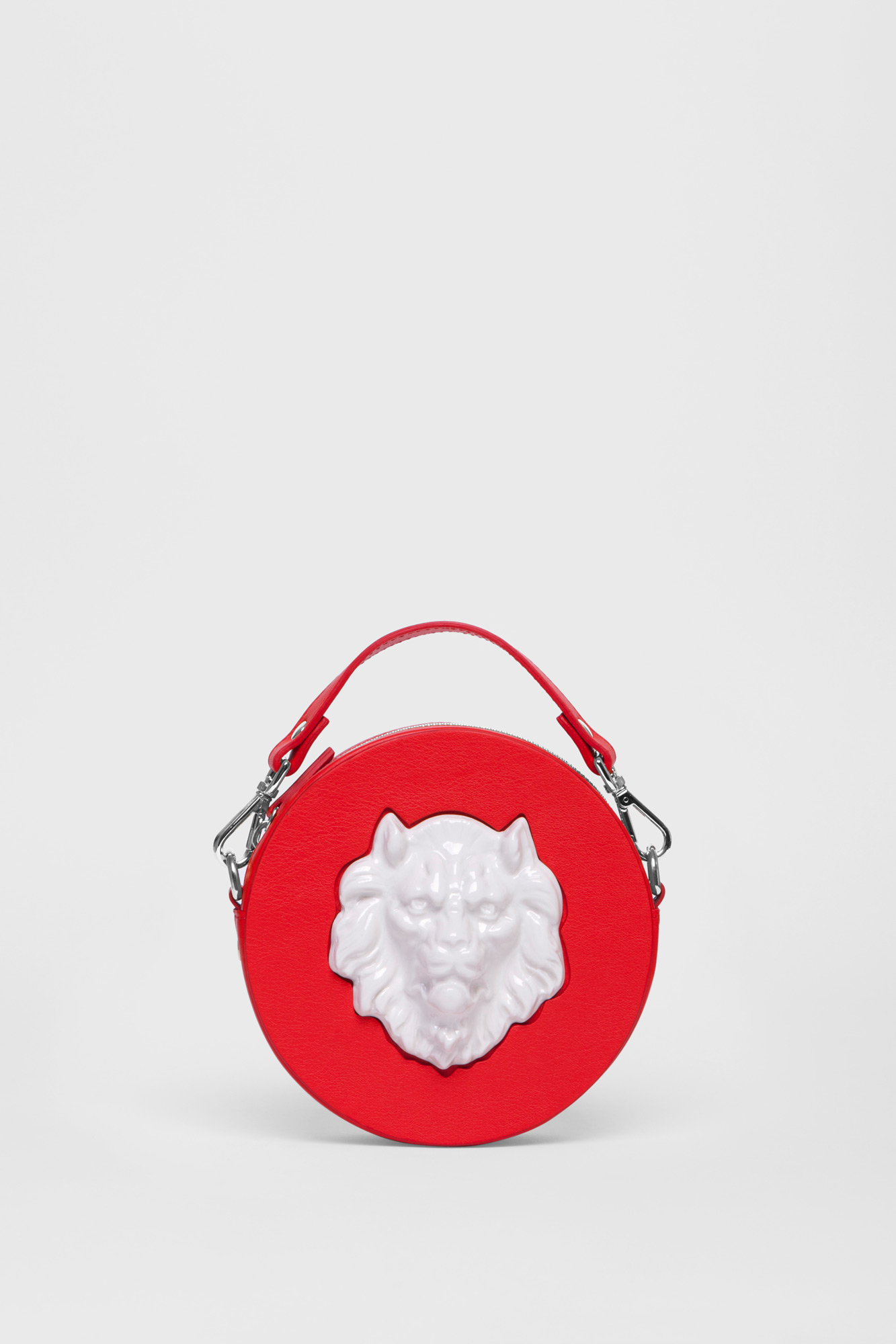 Round Lion MIni Bag Red