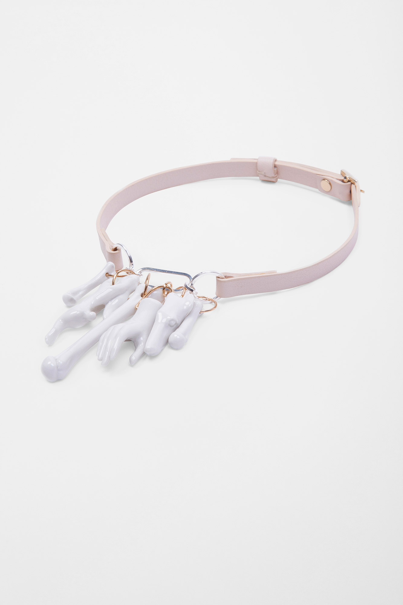 Charms Leather Choker