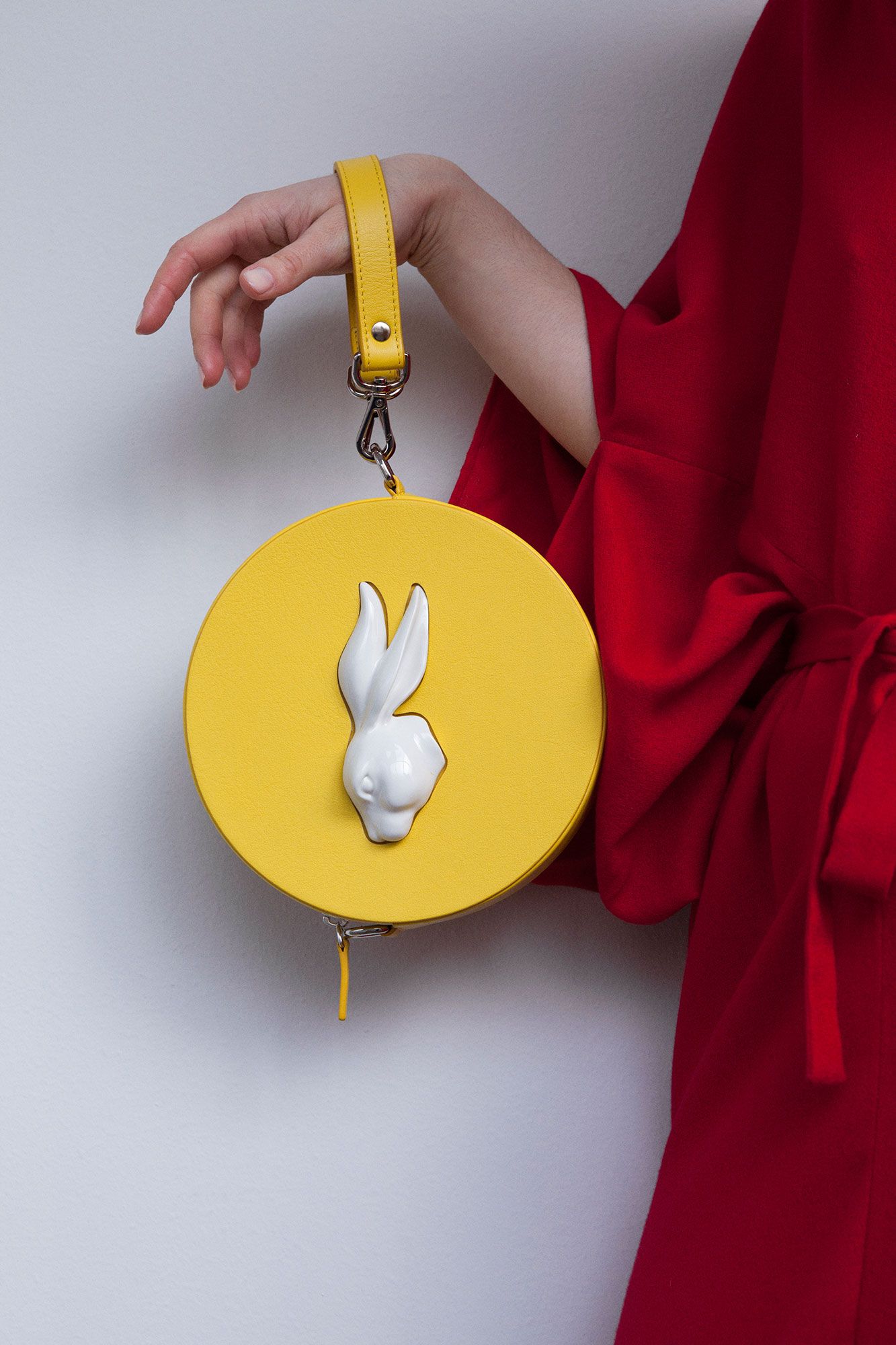 Round Rabbit Head Bag Yellow