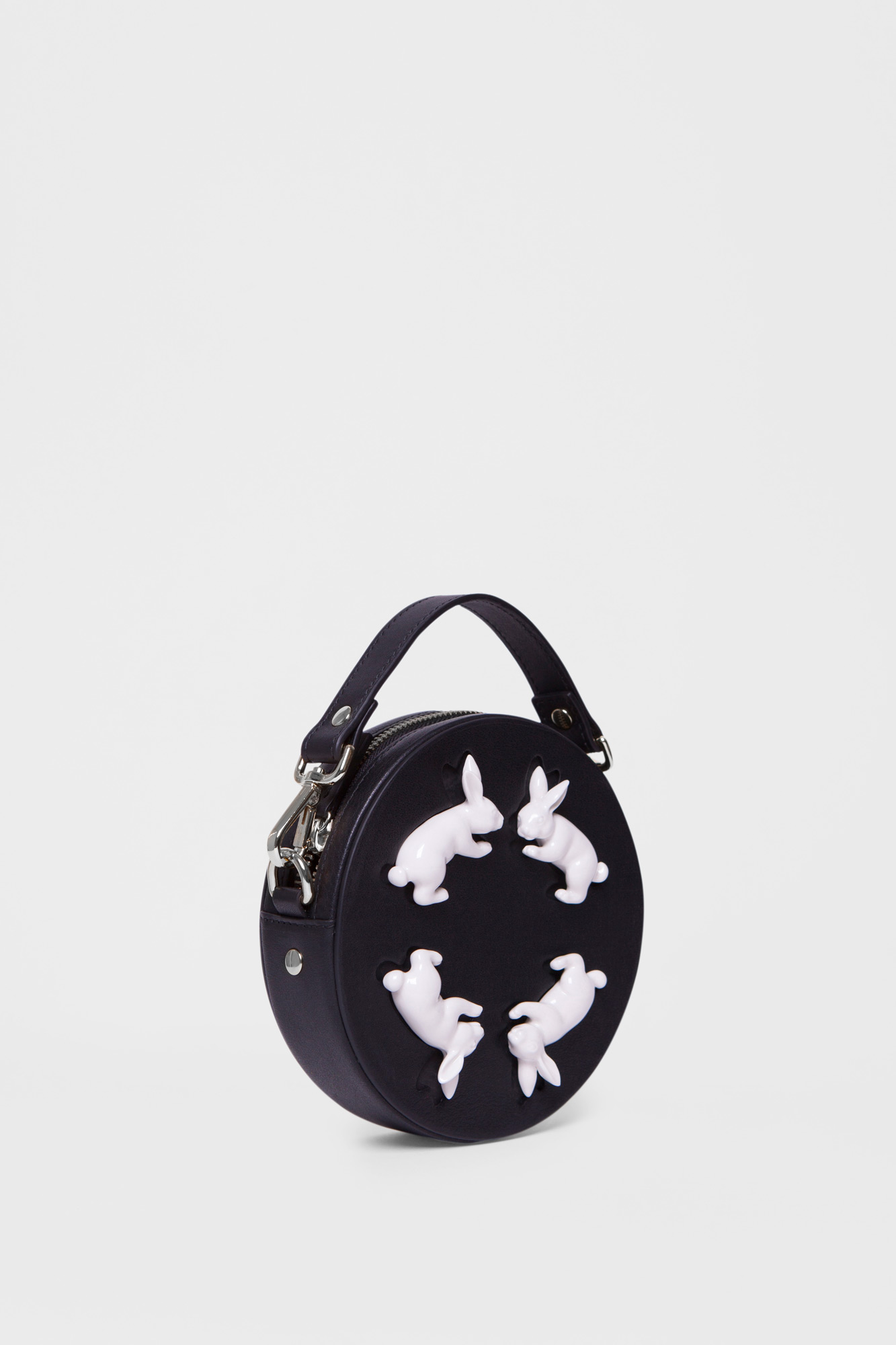 Round Rabbits Mini Bag Black
