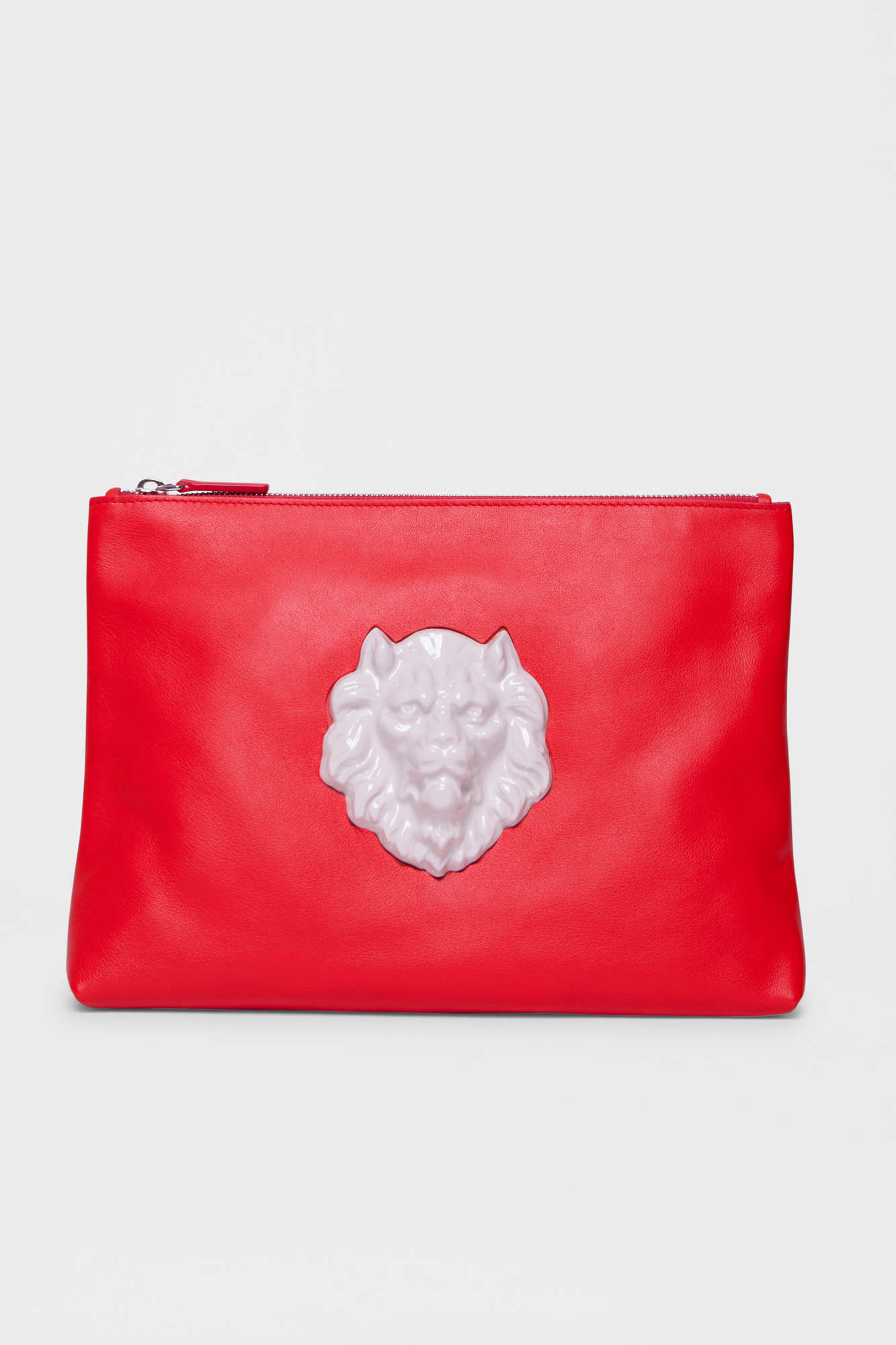 Pouch Lion Head Red