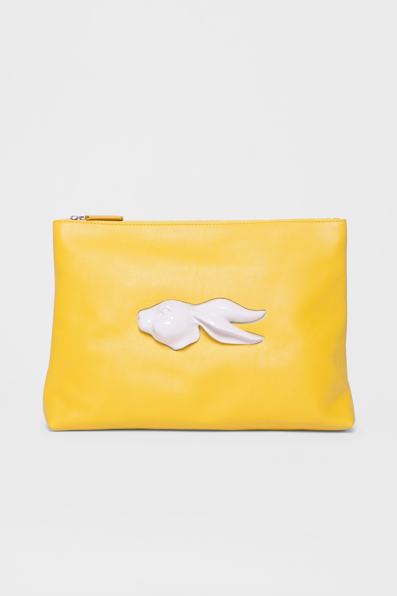 Pouch Rabbit Head Yellow