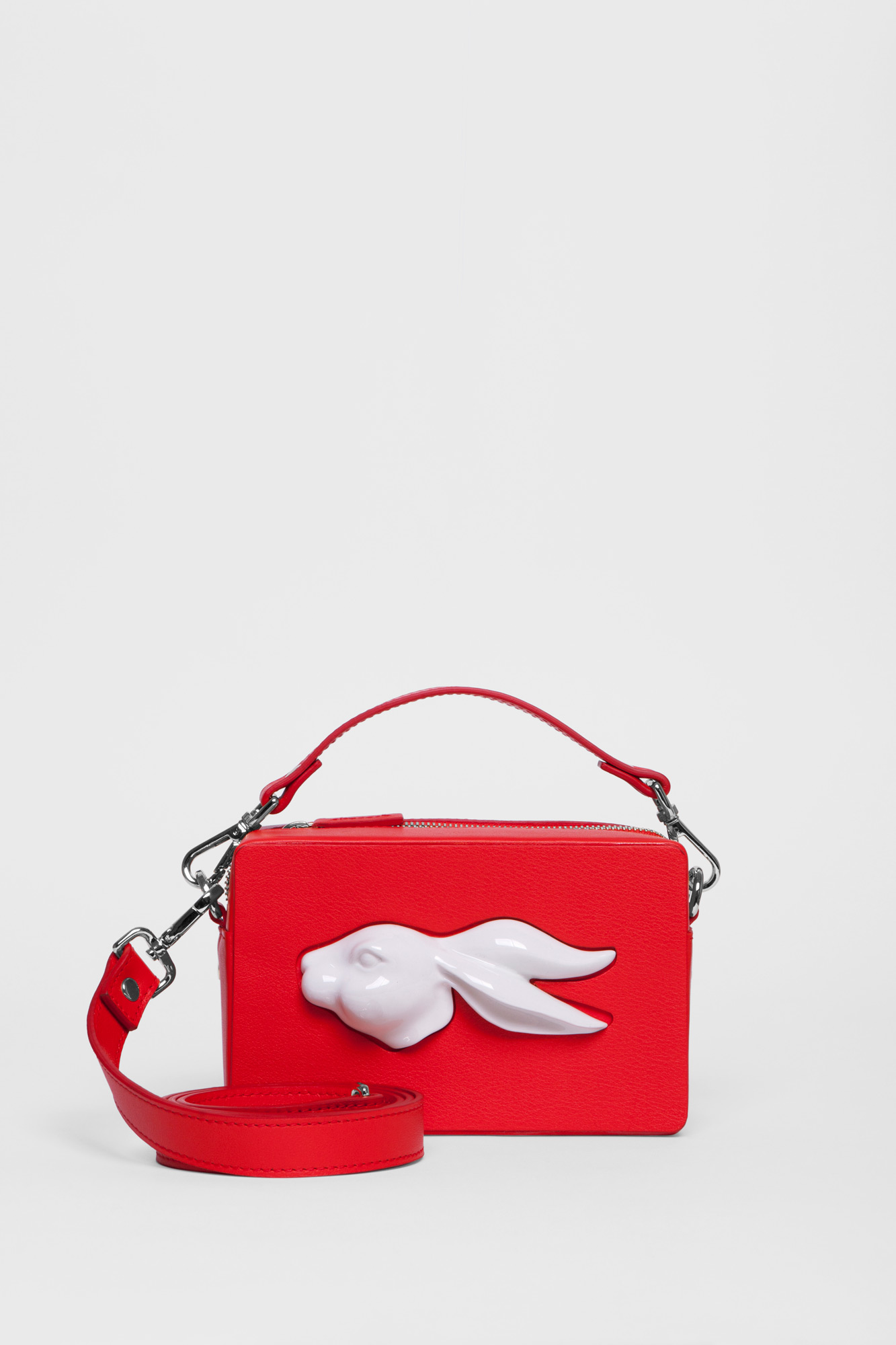 Rectangular Rabbit Head Bag Red
