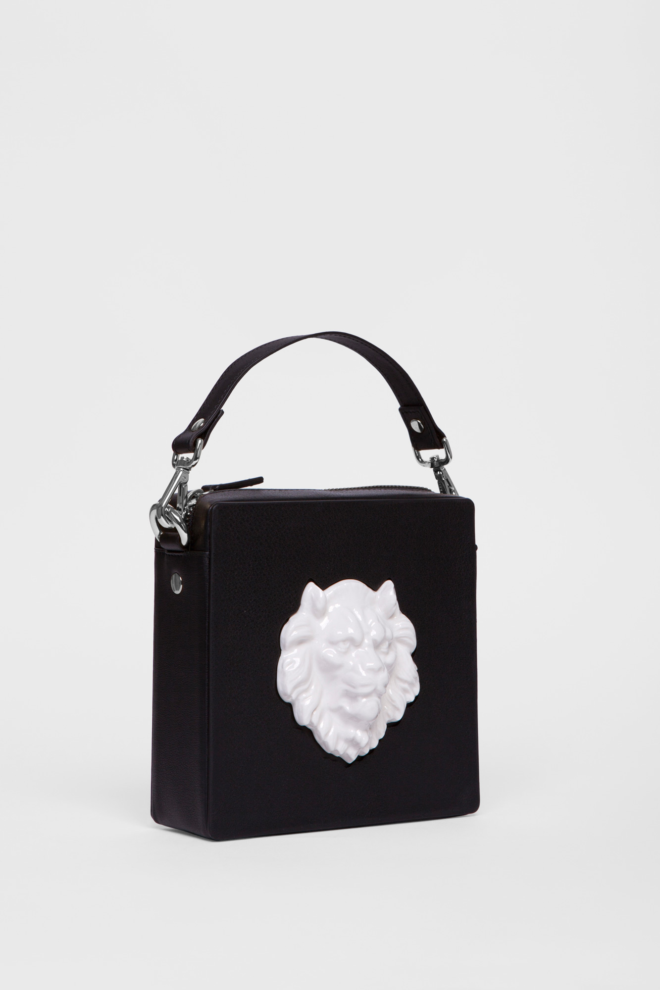 Square Lion Bag Black