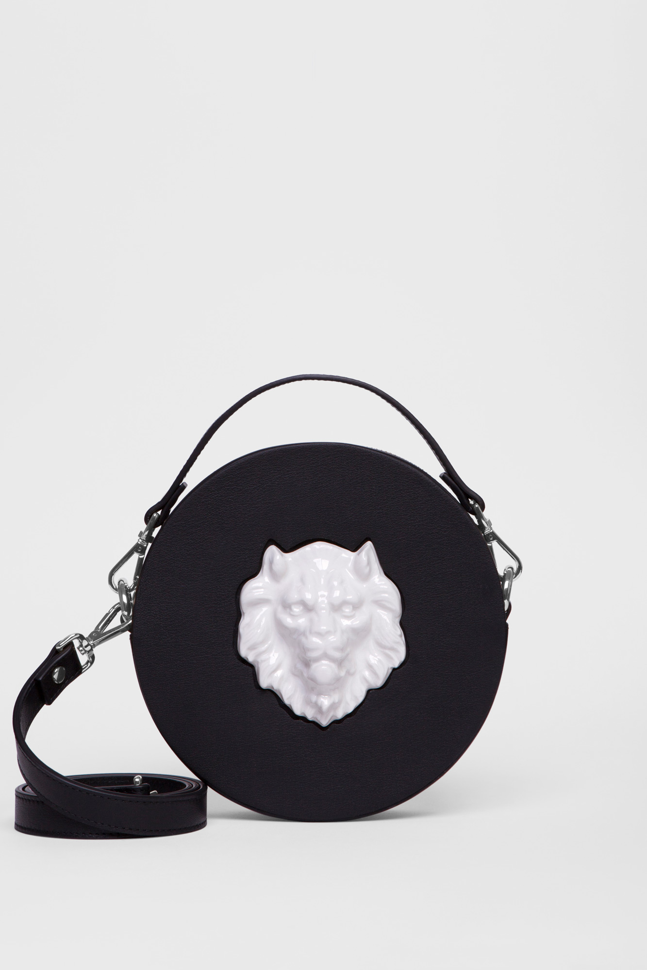 Round Lion Bag Black