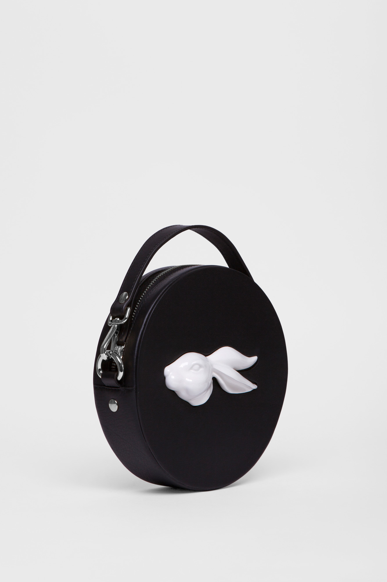 Round Rabbit Head Bag Black