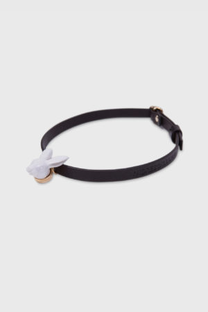 rabbit head leather choker