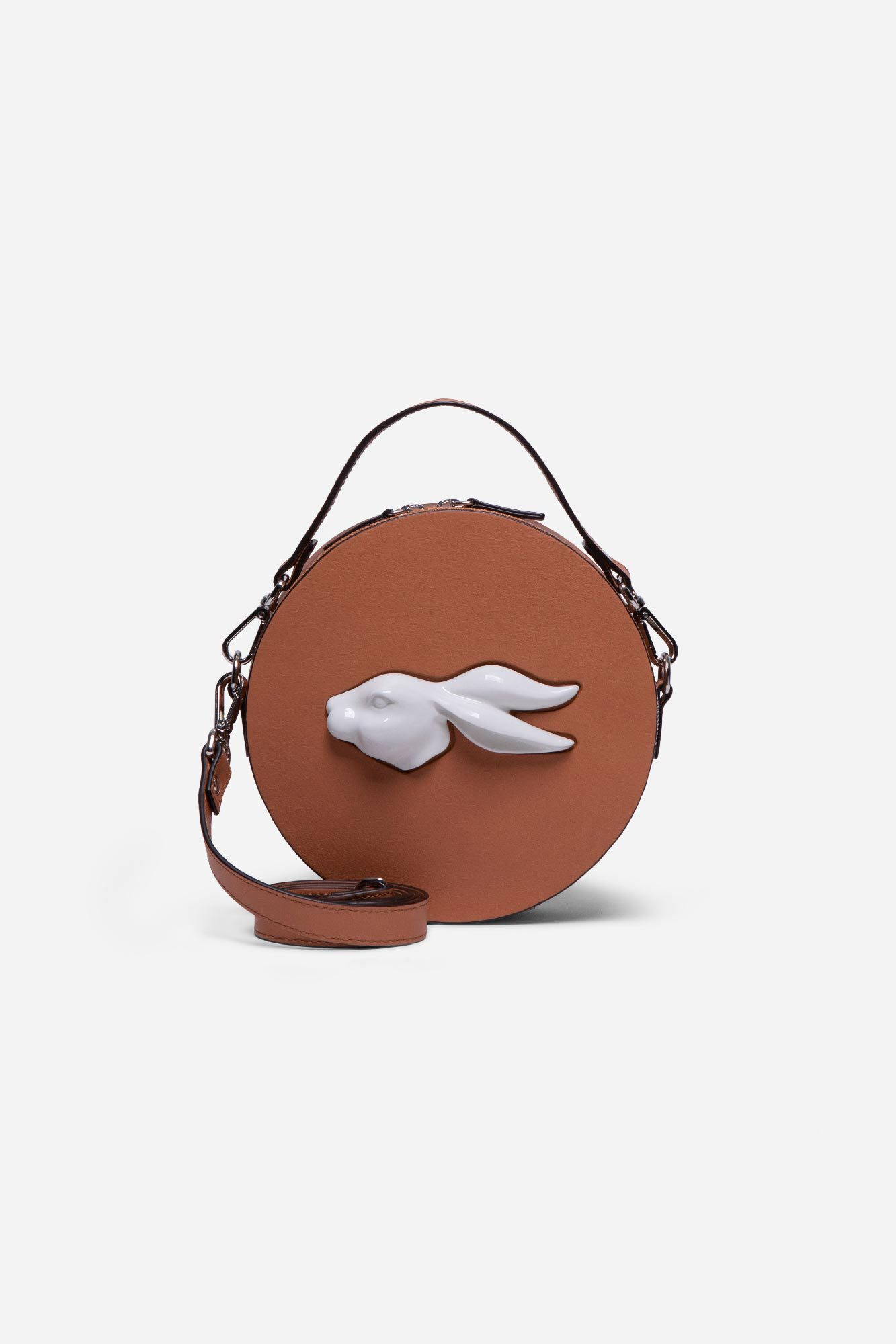 Round Rabbit Head Bag Camel