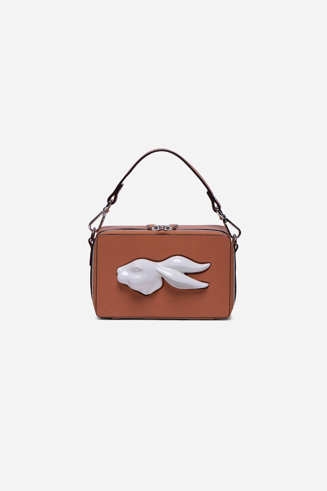 Rectangular Rabbit Head Bag Camel