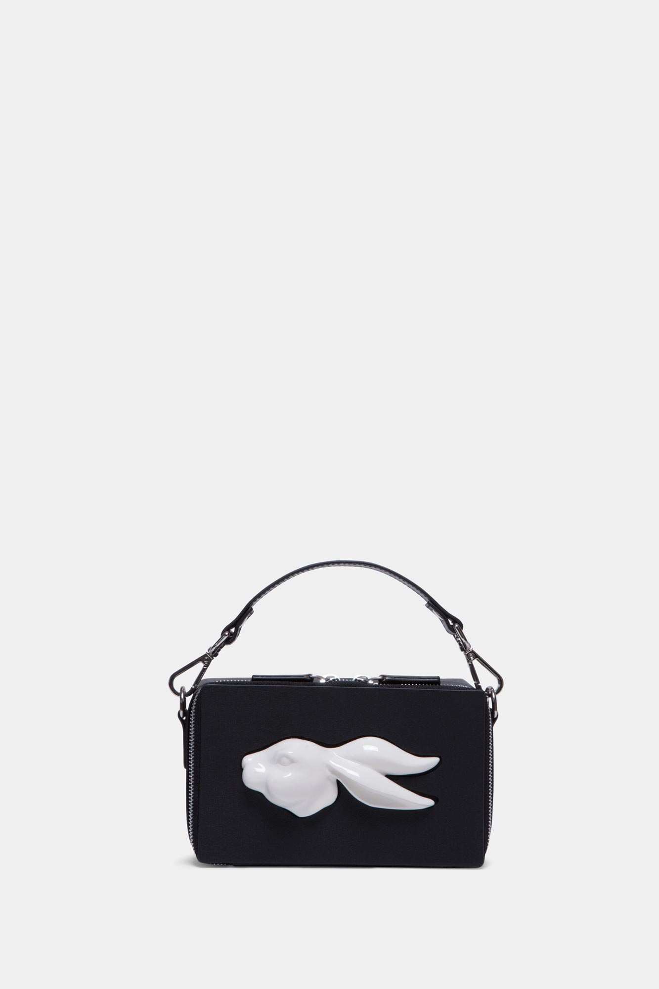 Rectangular Rabbit Head Bag Black