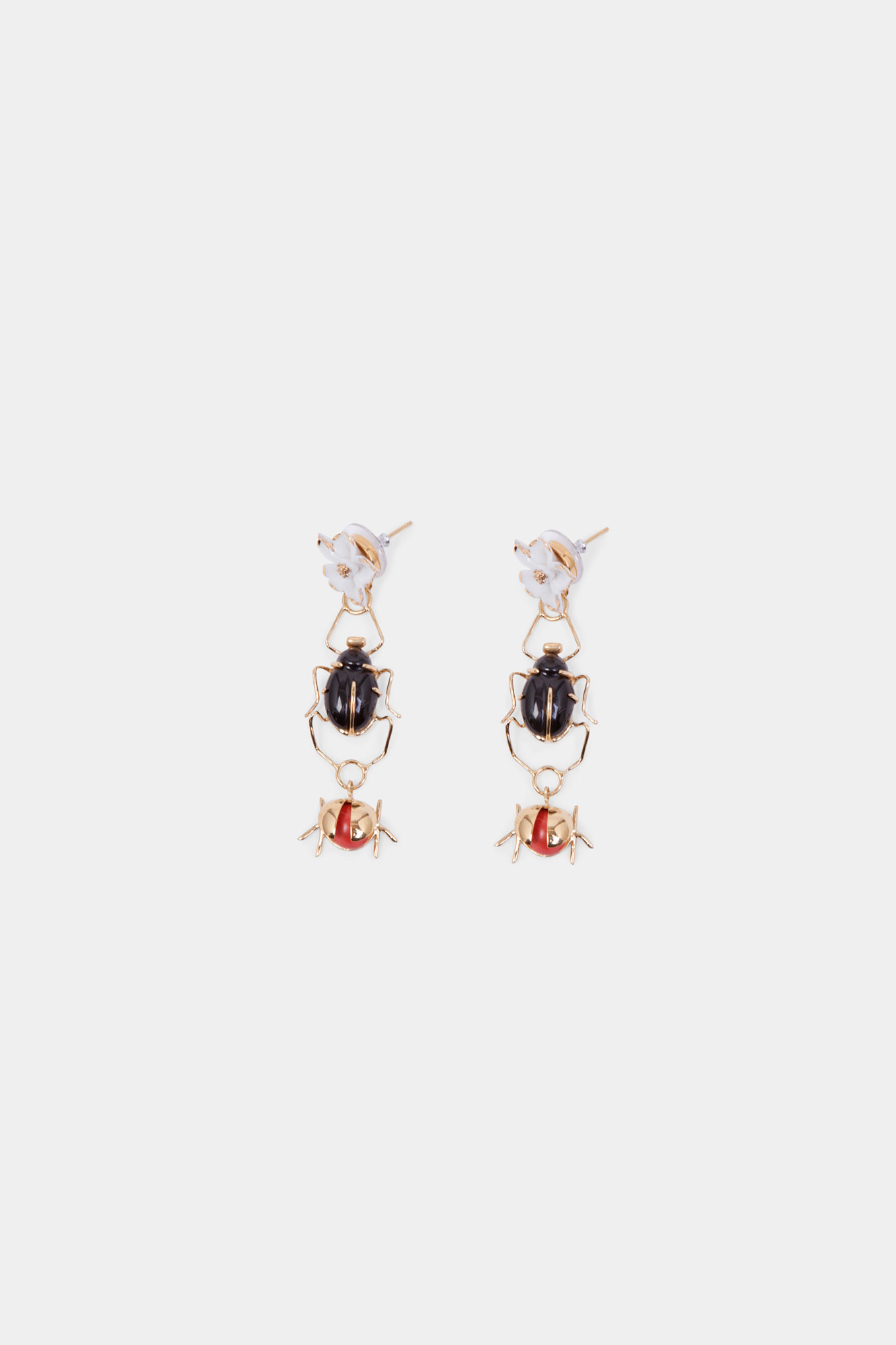 Scarab & Ladybug Earrings