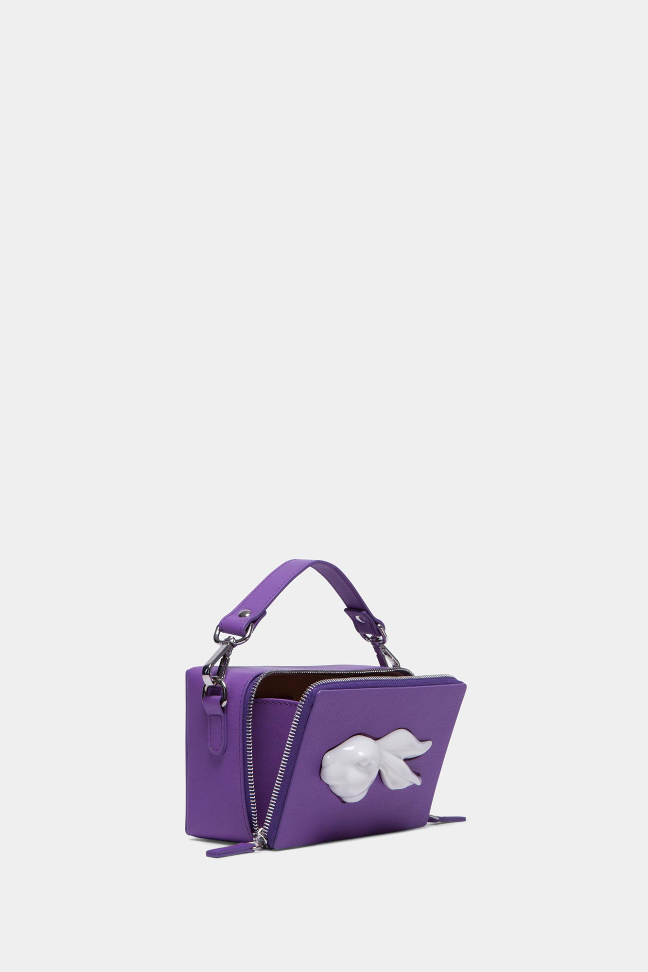 Rectangular Rabbit Head Bag Lilac