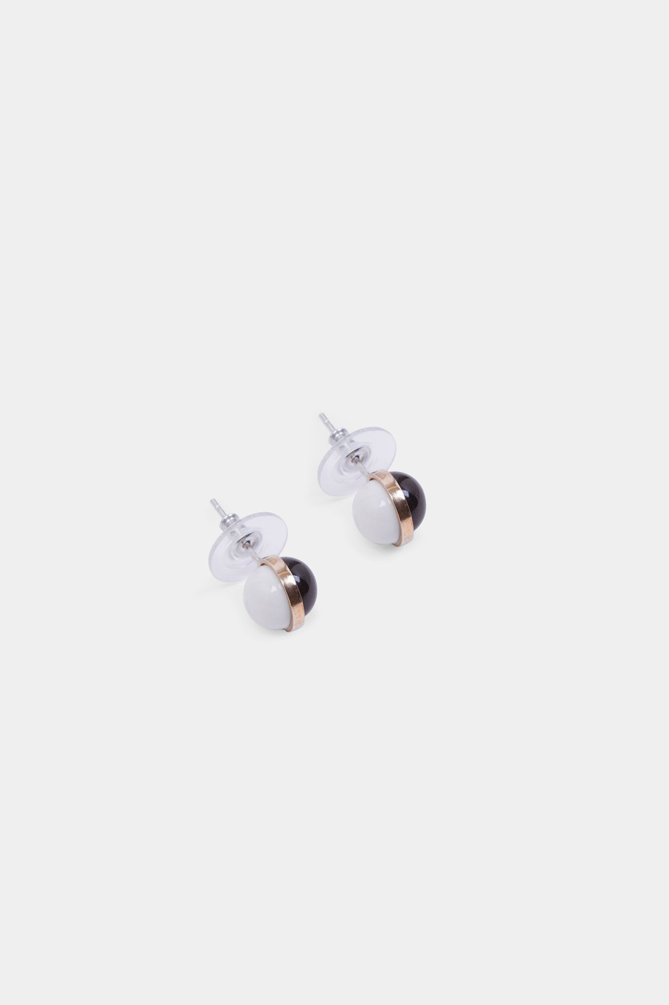 Mini Balloon Earrings White & Black