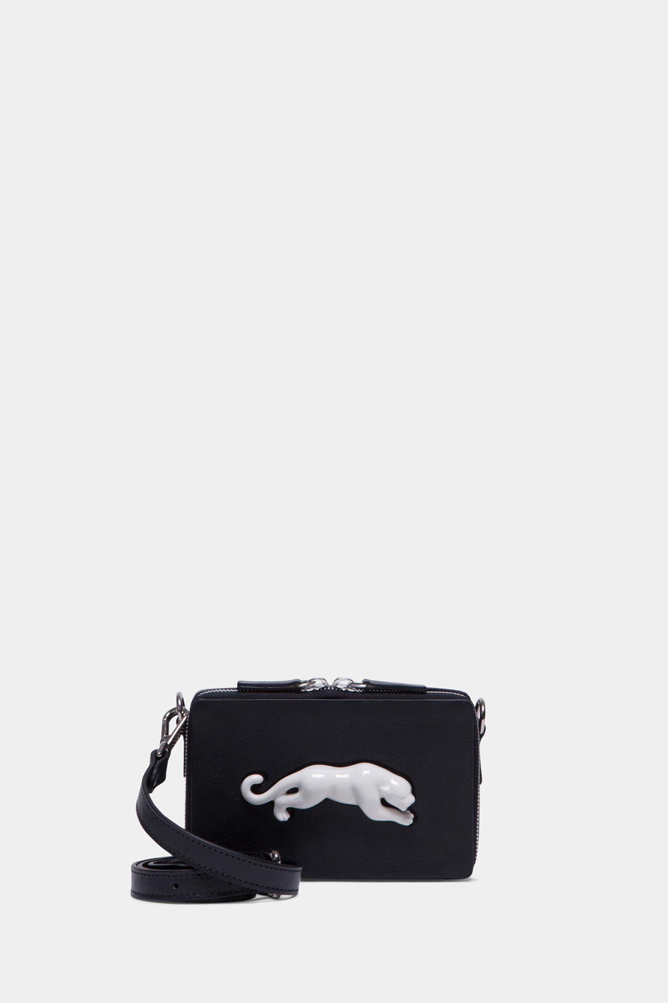 Rectangular Panther Mini Bag veg Black