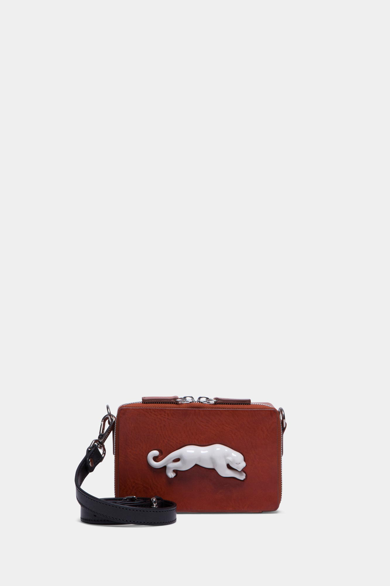 Rectangular Panther Mini Bag Vegetable Brandy