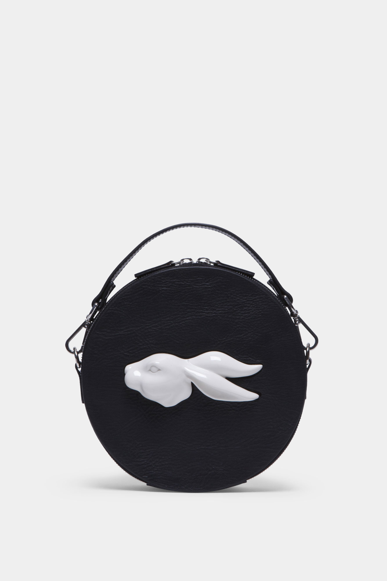 Round Rabbit Head Bag Vegetable Black