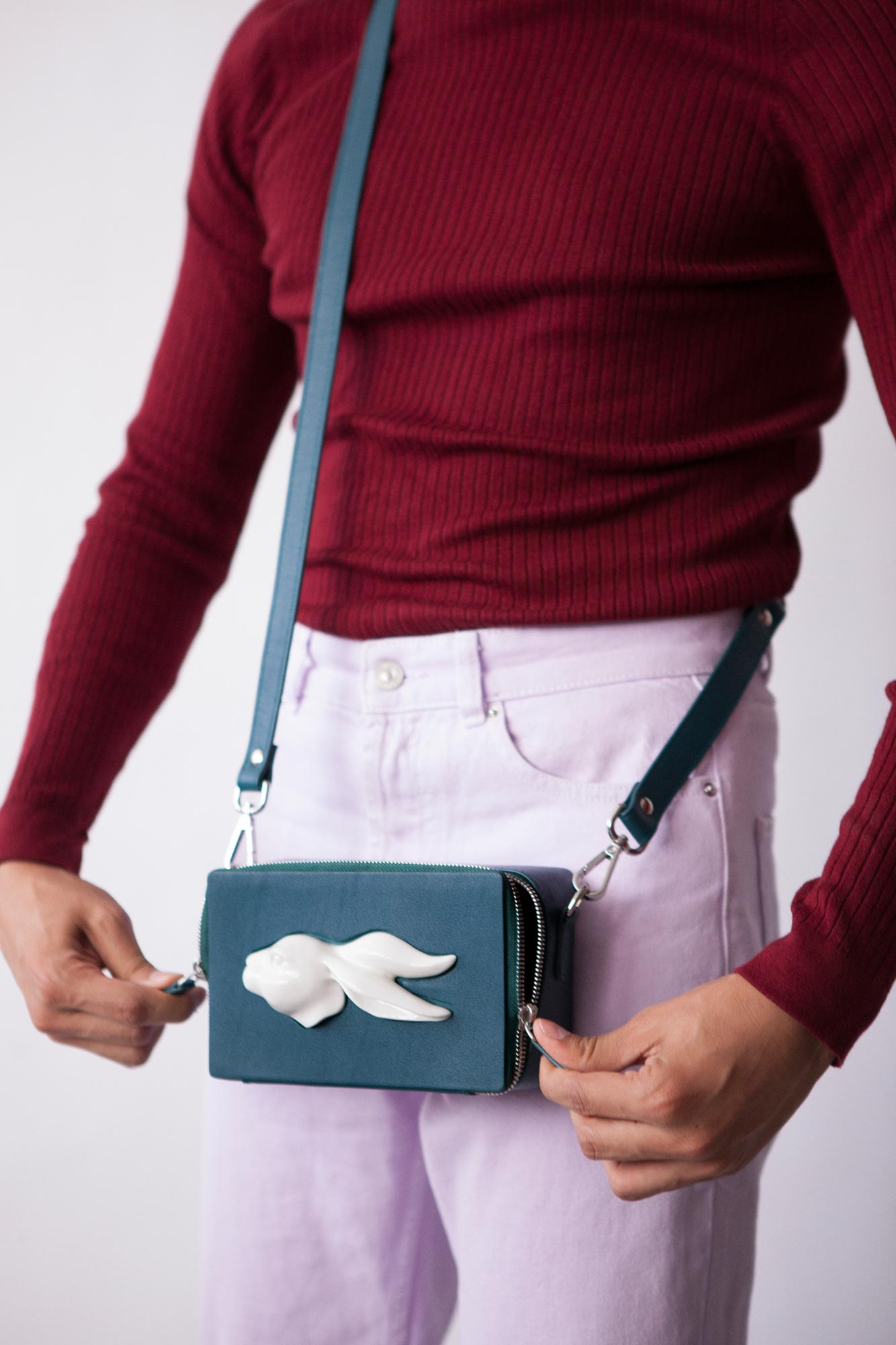 Rectangular Rabbit Head Bag Duck
