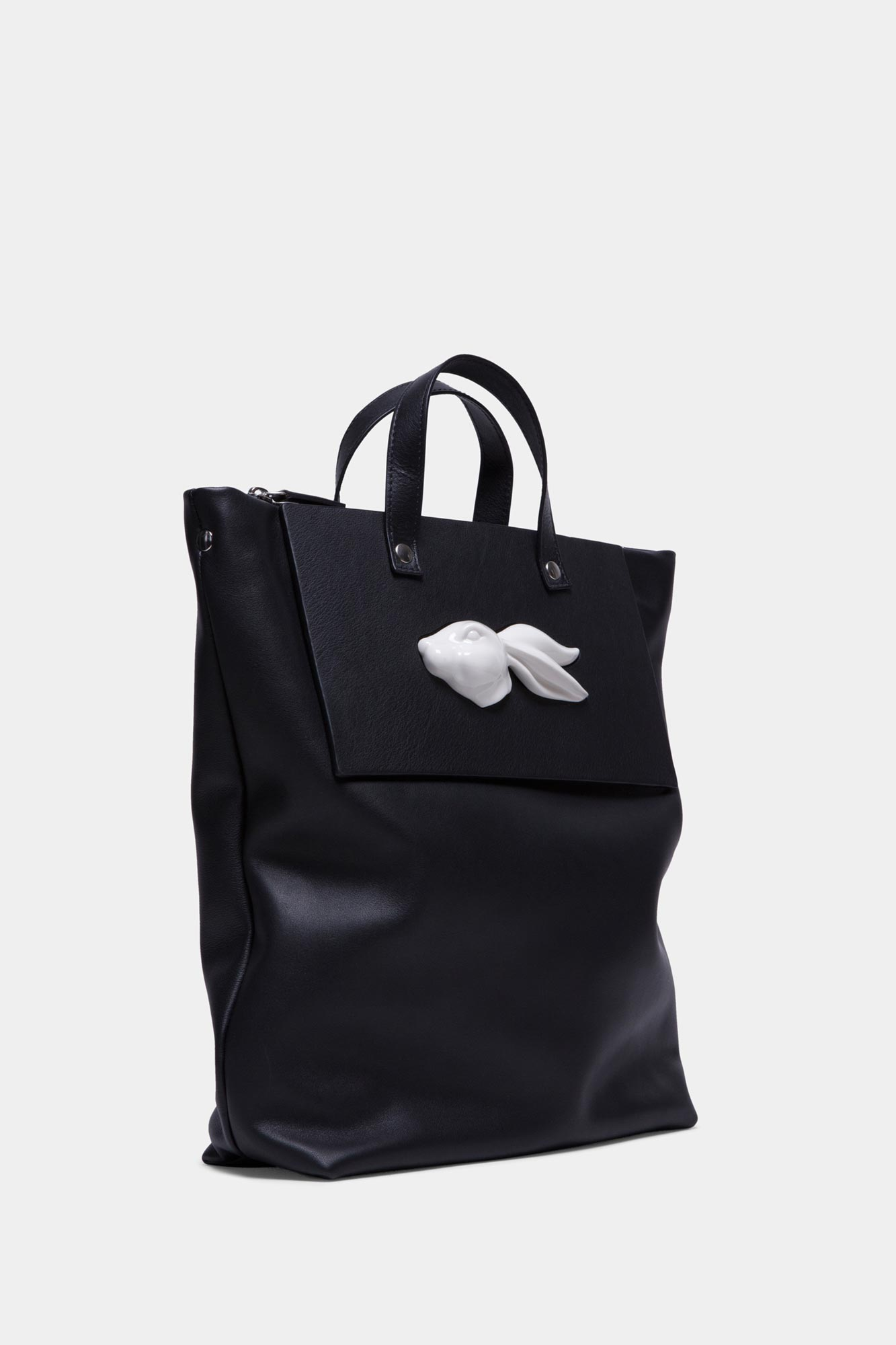 Tote Rabbit Head Black