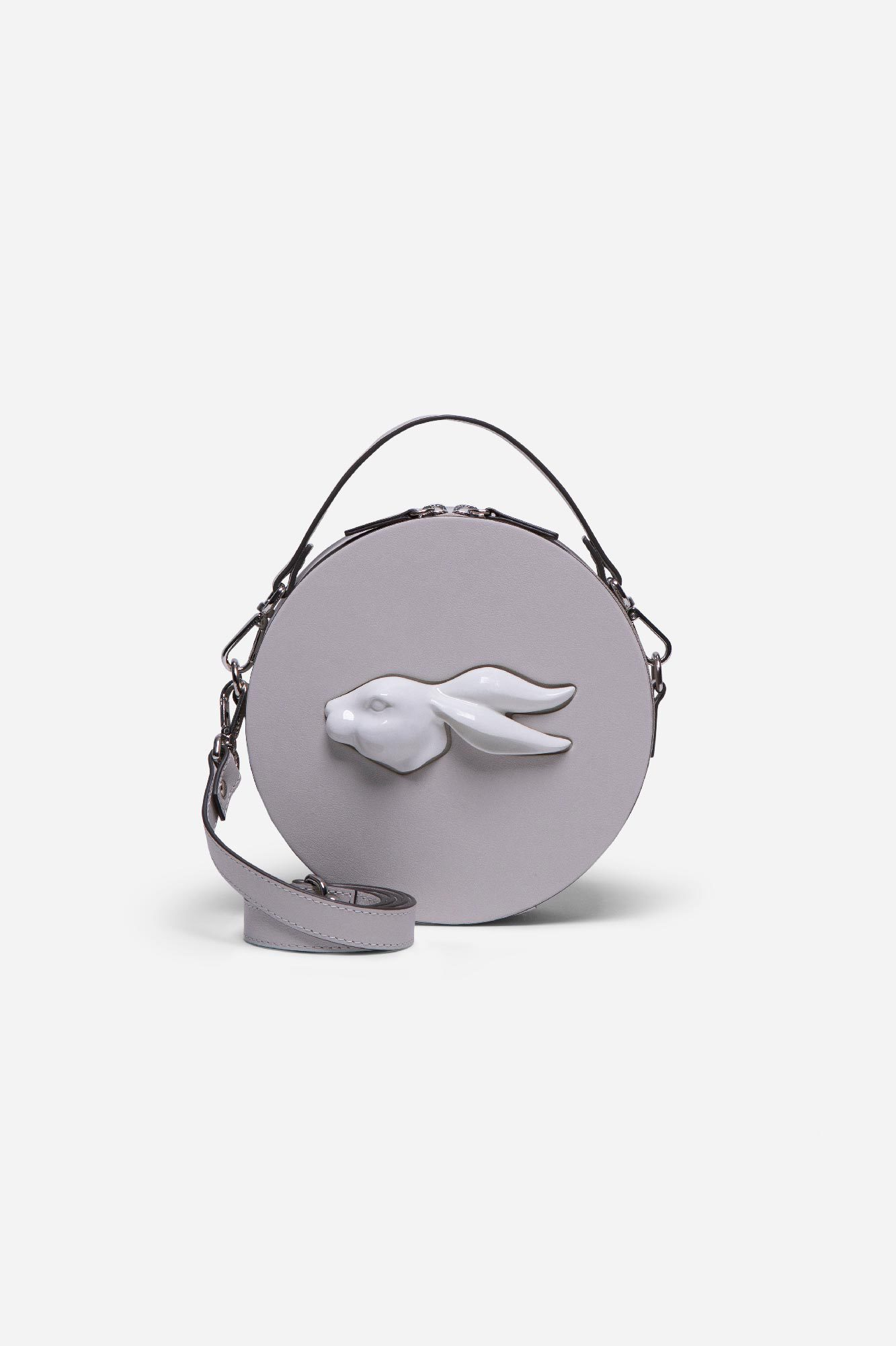 Round Rabbit Head Bag Pearl