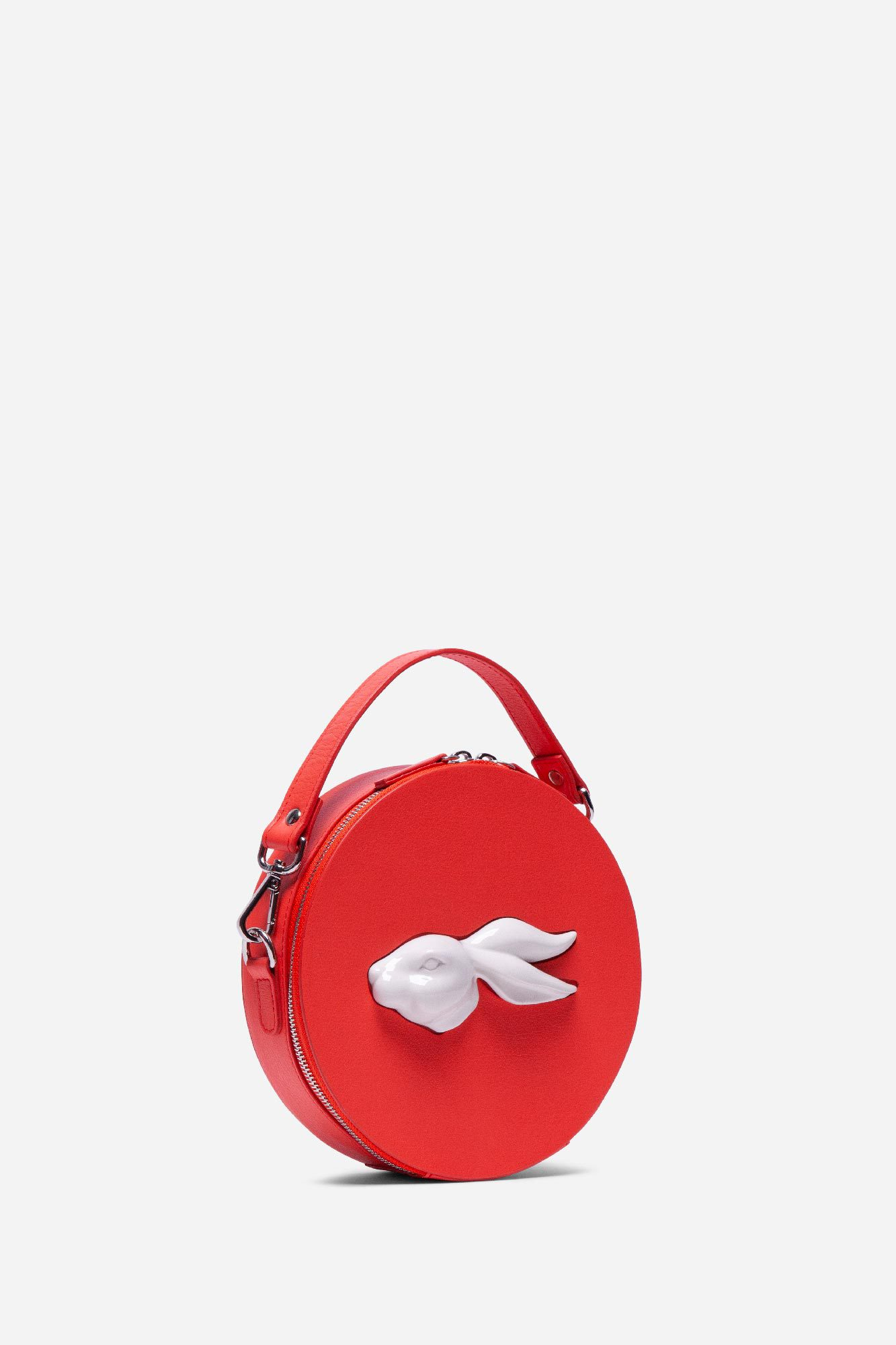 Round Rabbit Head Bag Coral