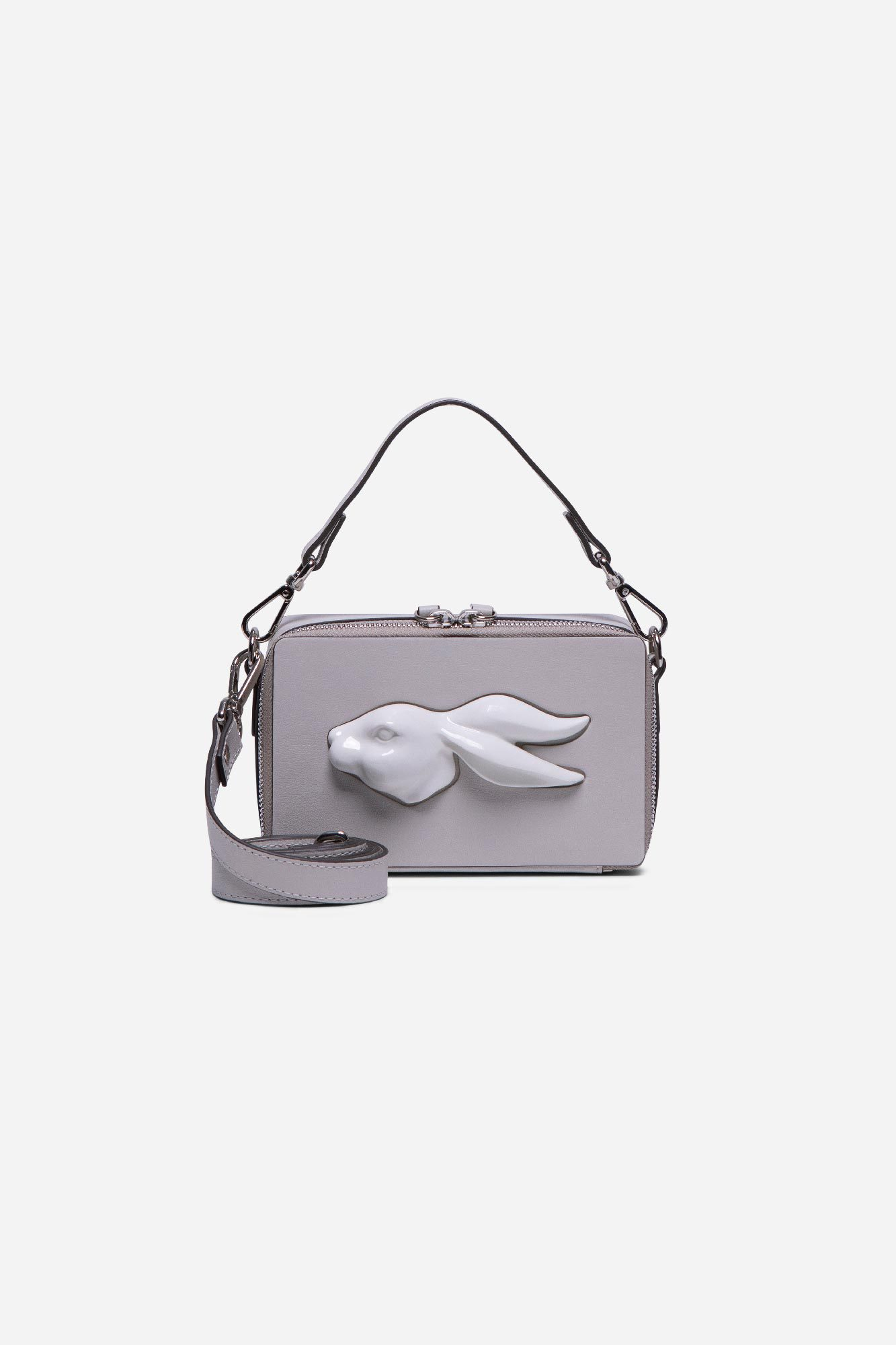 Rectangular Rabbit Head Bag Pearl