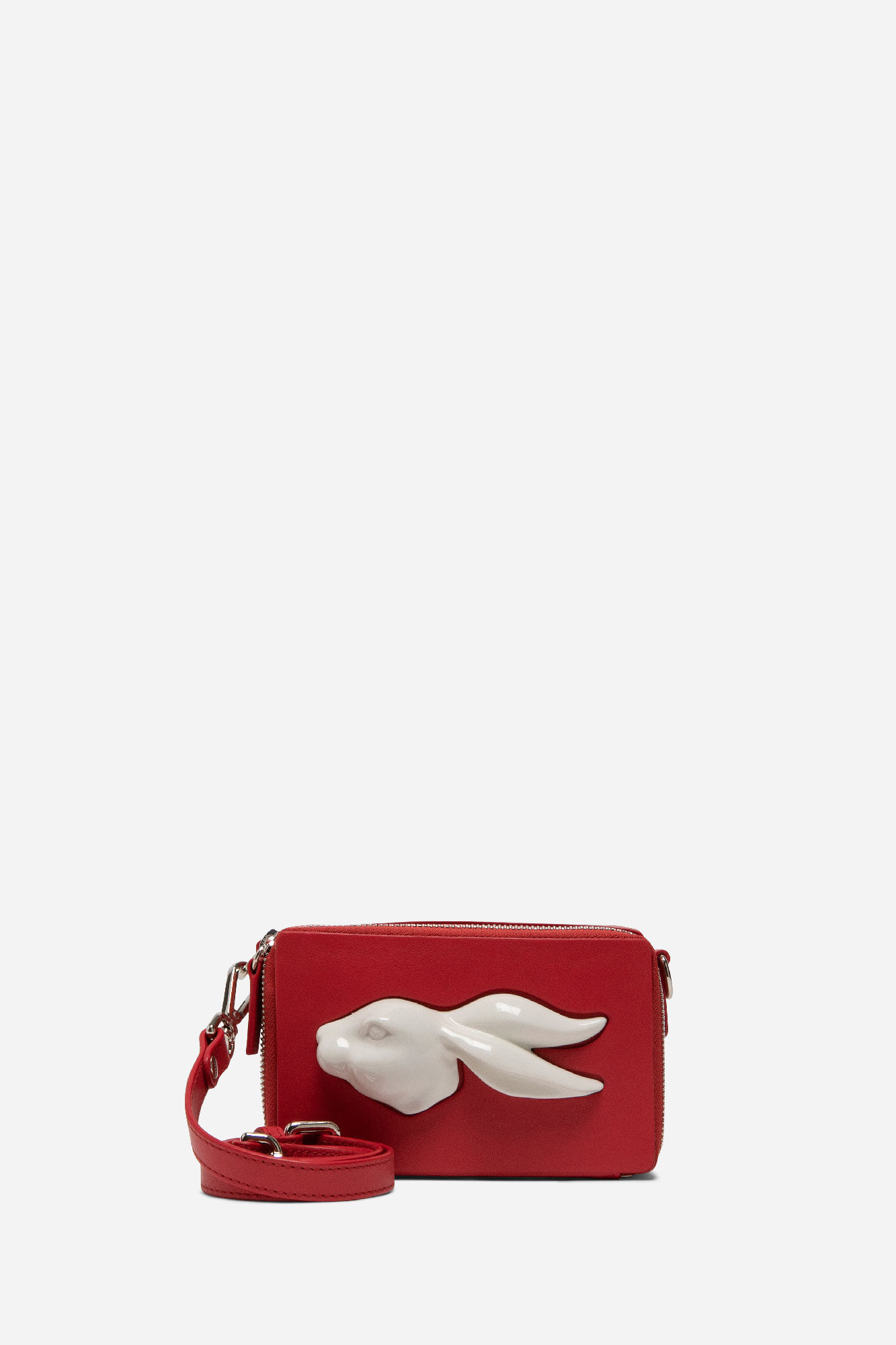 Rectangular Rabbit Head Mini Bag Red
