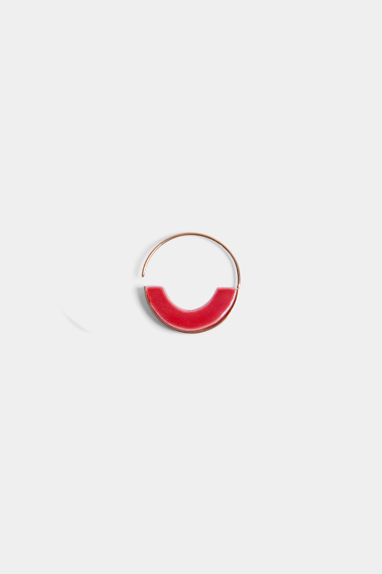 Geometry 2 Red & White Earring