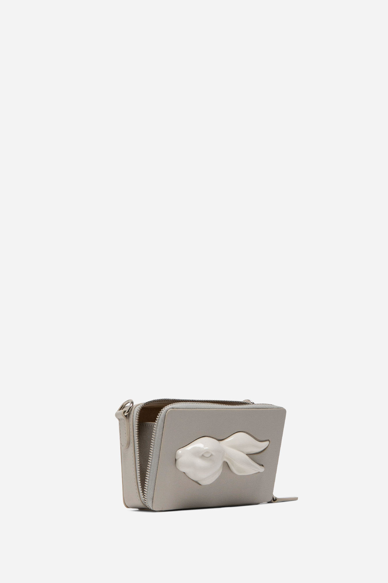 Rectangular Rabbit Head Mini Bag Pearl