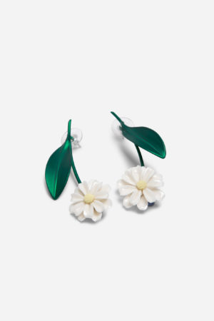 Daisy Stern Earrings Green