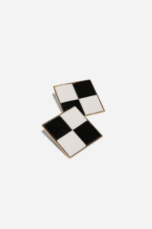 Chess Board Earrings