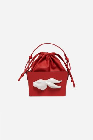 Bombonera Rabbit Head Bag Tomato