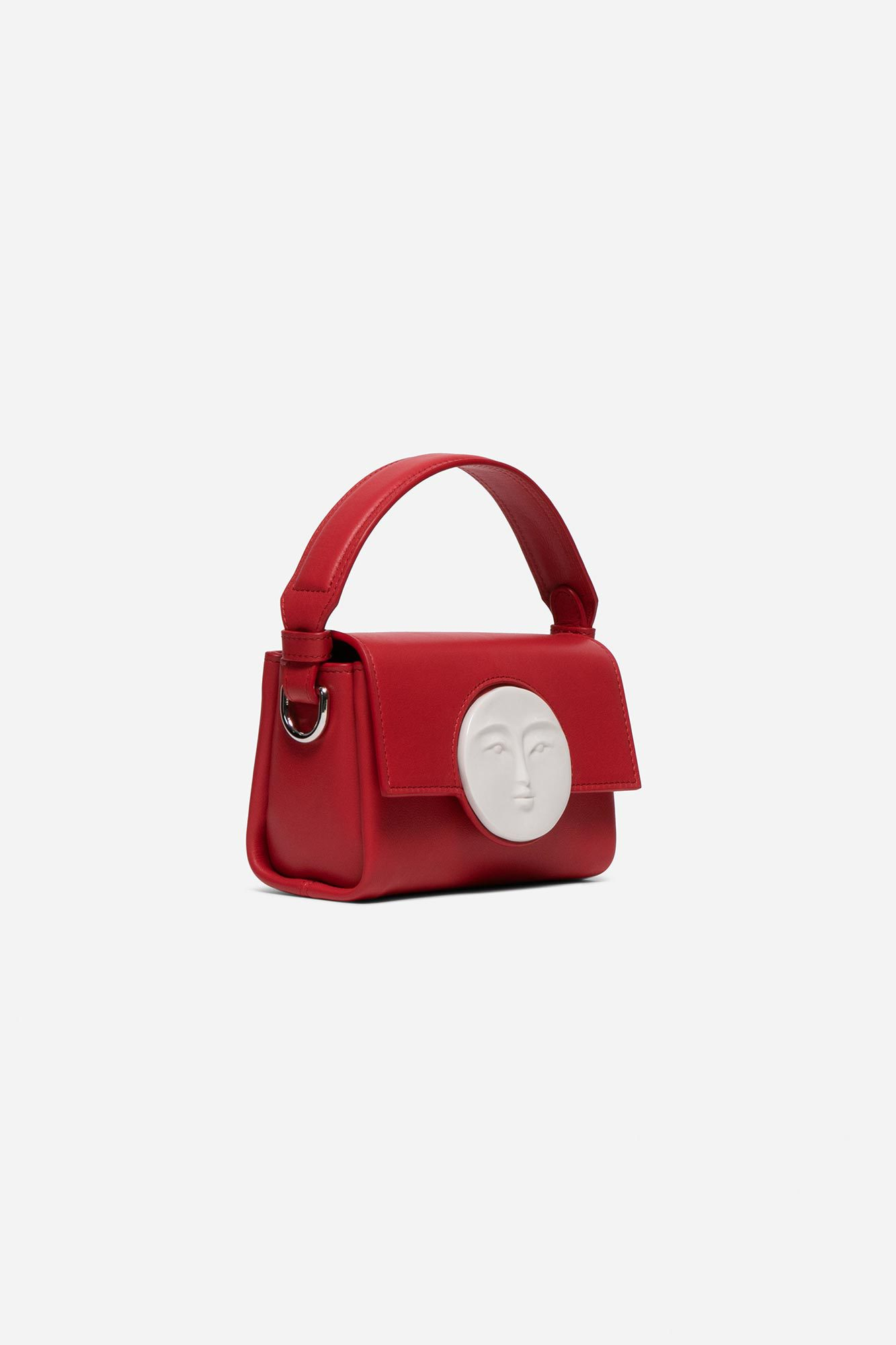 Flap Mini Moon Bag Tomato