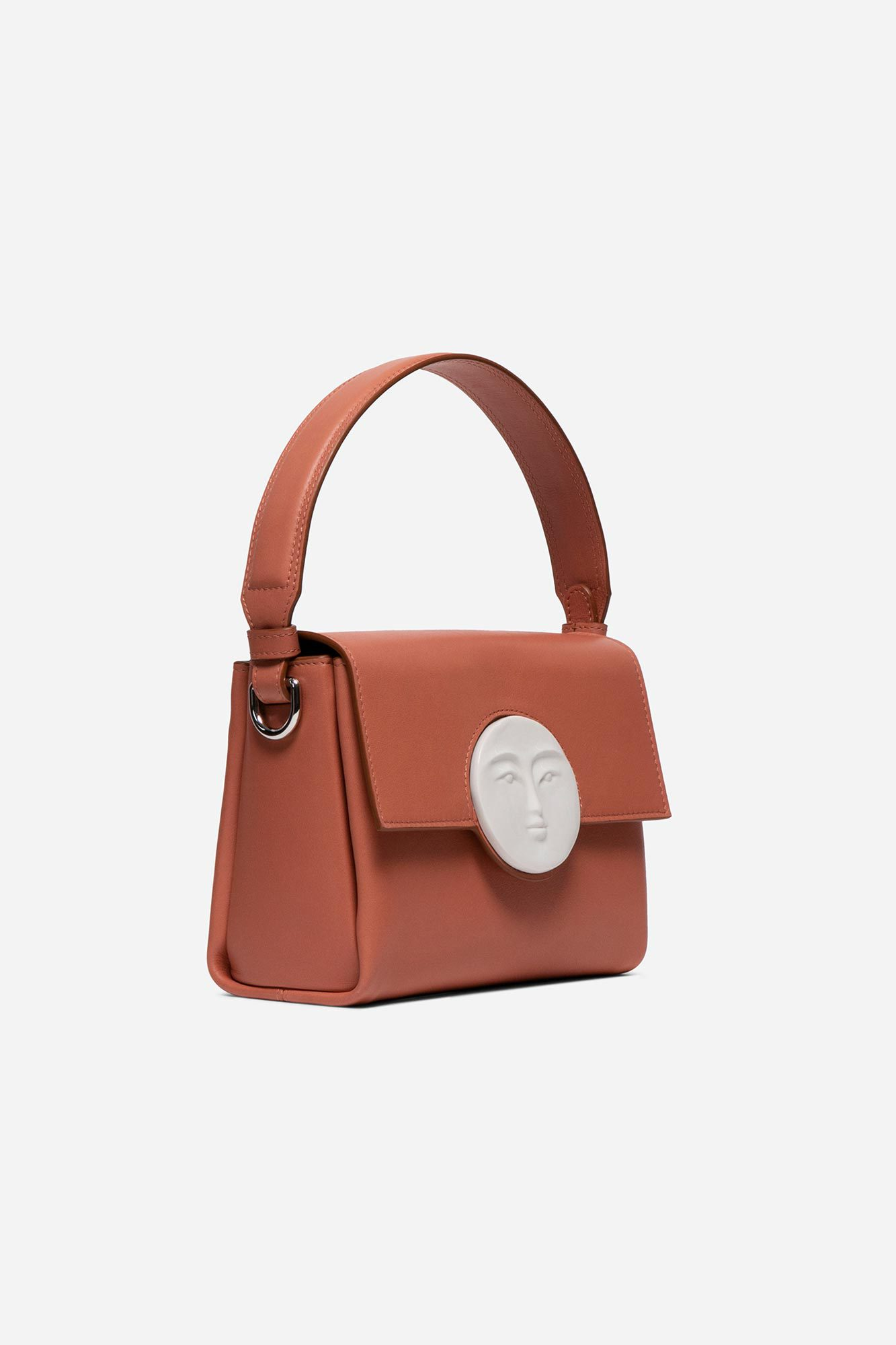 Flap Moon Bag Peach