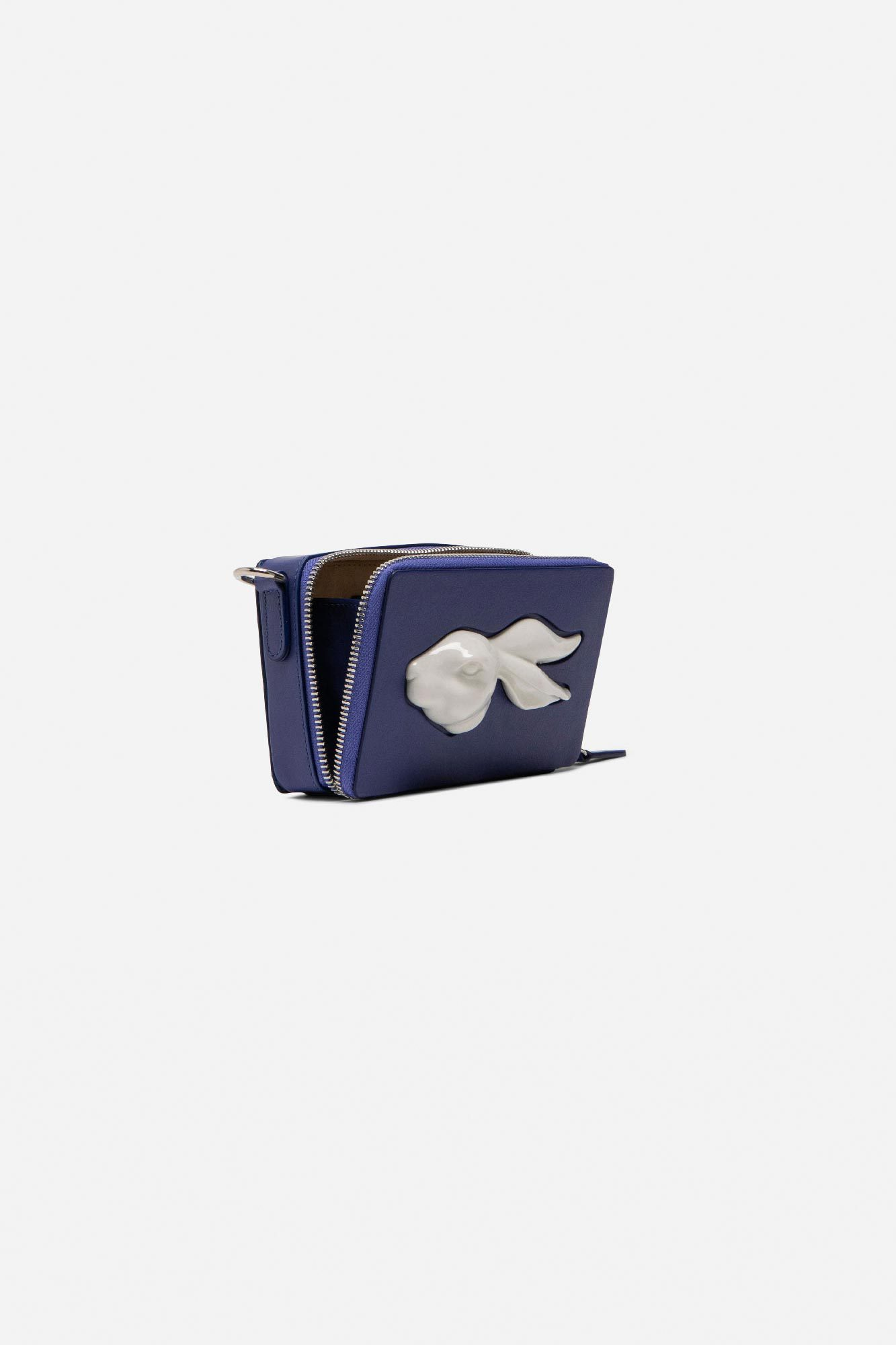 Rectangular Rabbit Head Mini Bag Cobalt