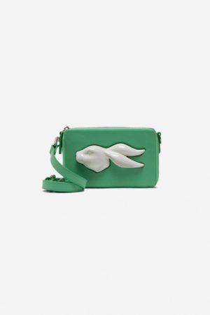 Rectangular Rabbit Head Mini Bag Grass
