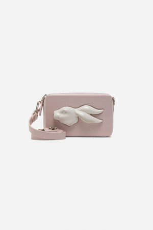 Rectangular Rabbit Head Mini Bag Pale
