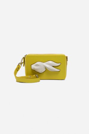 Rectangular Rabbit Head Mini Bag Pineapple