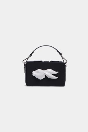 Rectangular Rabbit Head Bag Vegetable Black