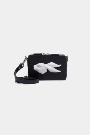 Rectangular Rabbit Head Mini Bag Vegetable Black