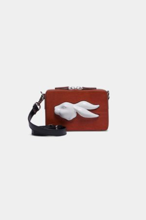 Rectangular Mini Rabbit Head Bag Vegetable Brandy