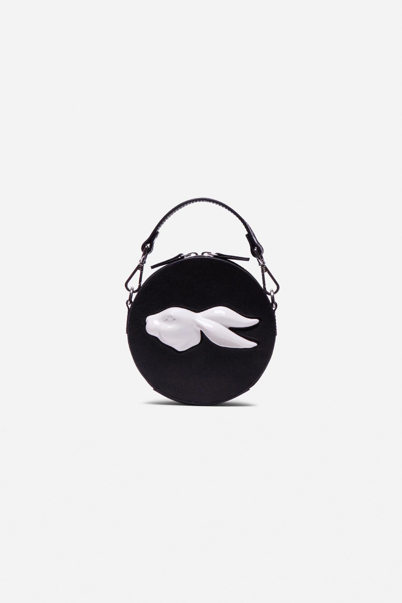 Round Mini Rabbit Head Bag Vegetable Black