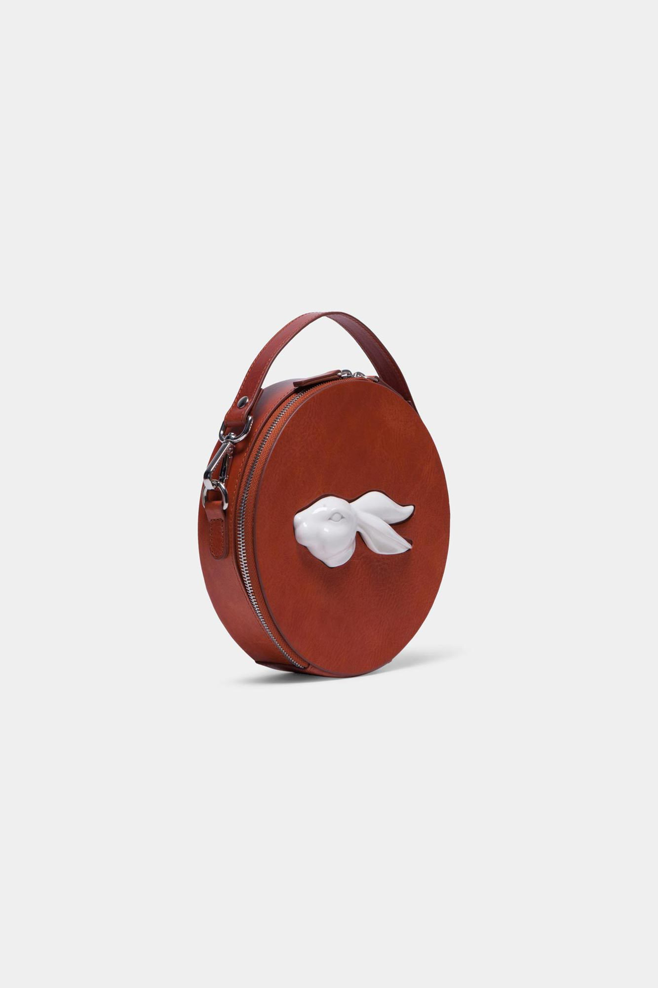 Round Rabbit Head Bag Vegetable Brandy
