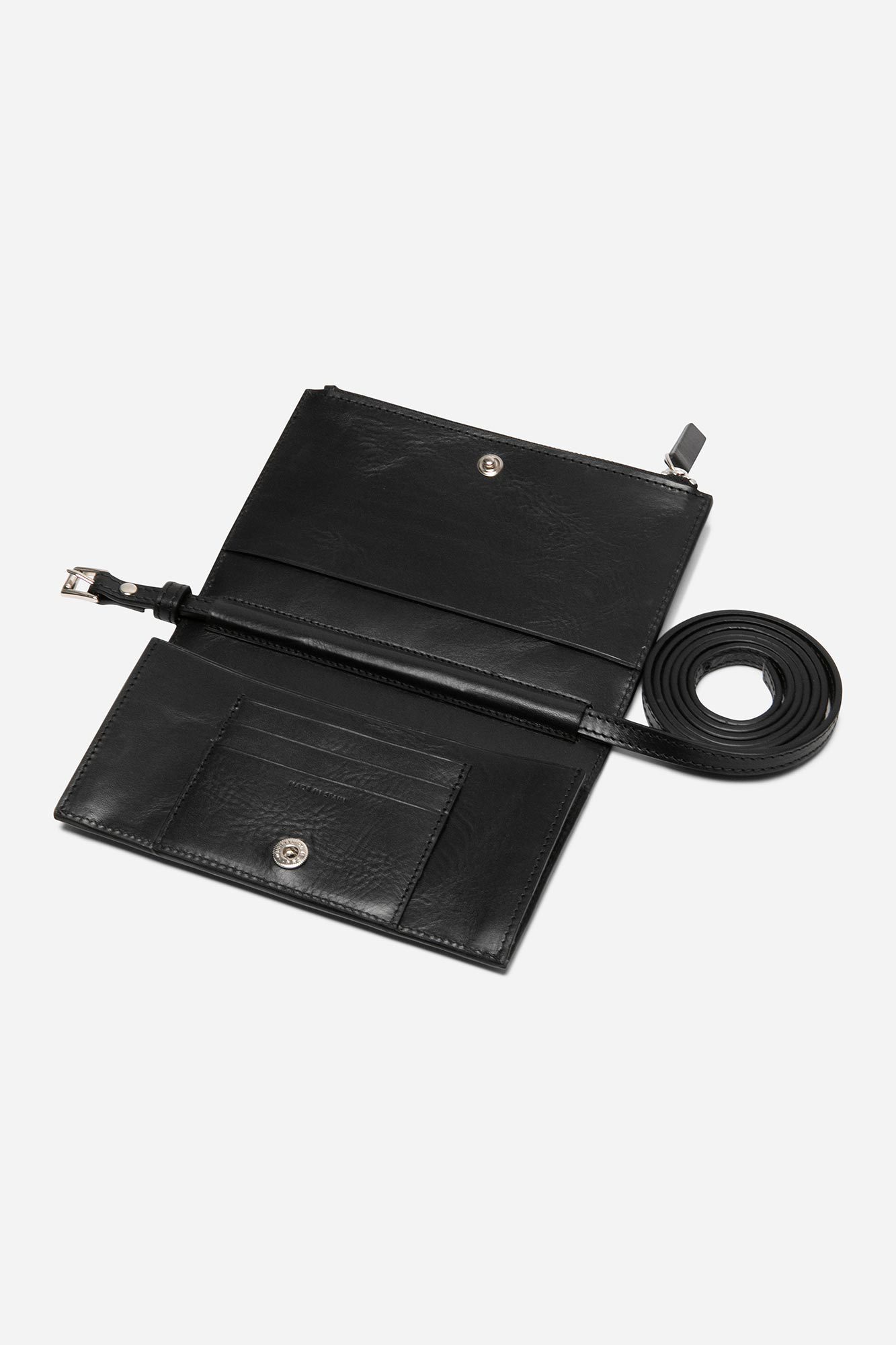 Wallet Moon Bag Vegetable Black