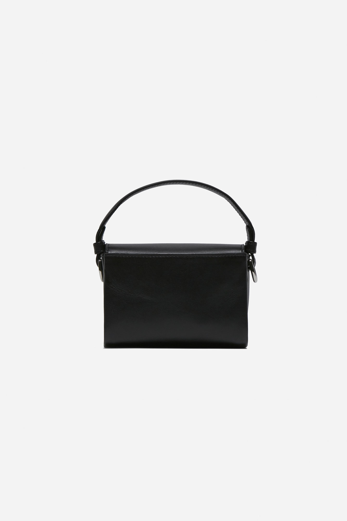 Flap Mini Moon Bag Black