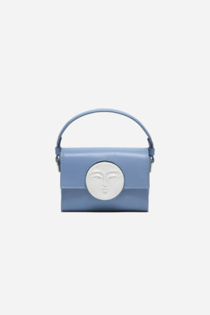 Flap Mini Moon Bag Ciel