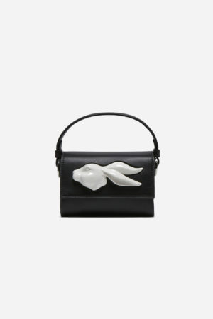 Flap Mini Rabbit Head Bag Black