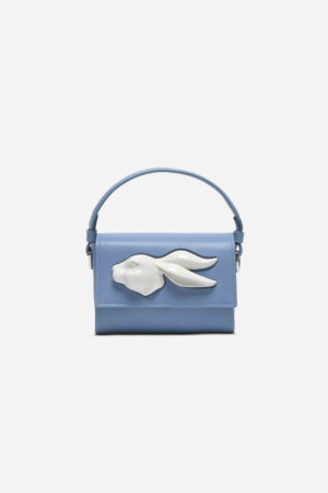 Flap Mini Rabbit Head Bag Ciel